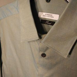 🆕 Versace Men's Dress Shirt 16 34/35 NWOT